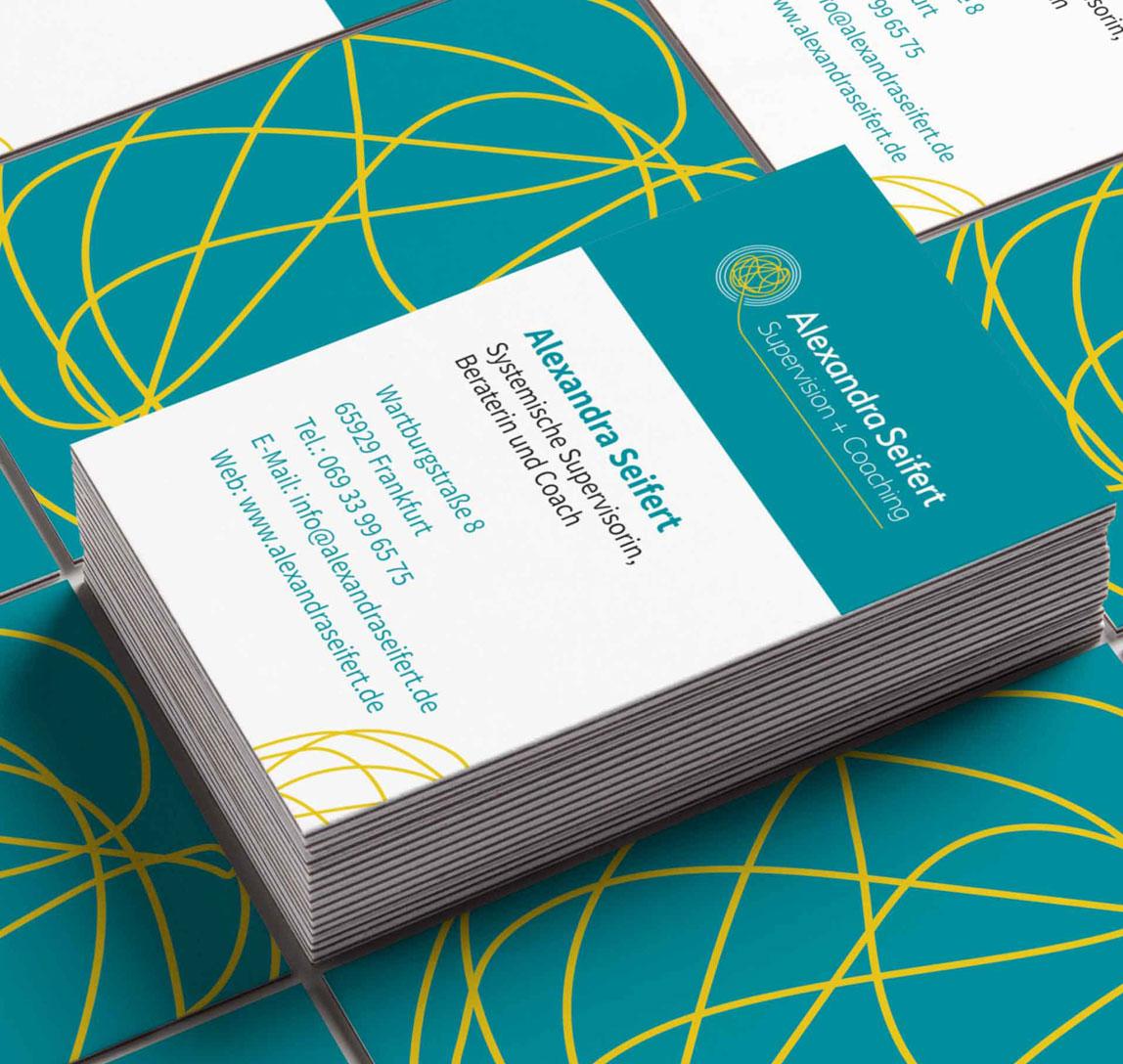 Alexandra Seifert- Logogestaltung, Visitenkarte und Flyer